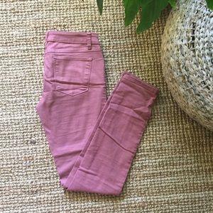 Prana   dusty rose jeans stretchy denim